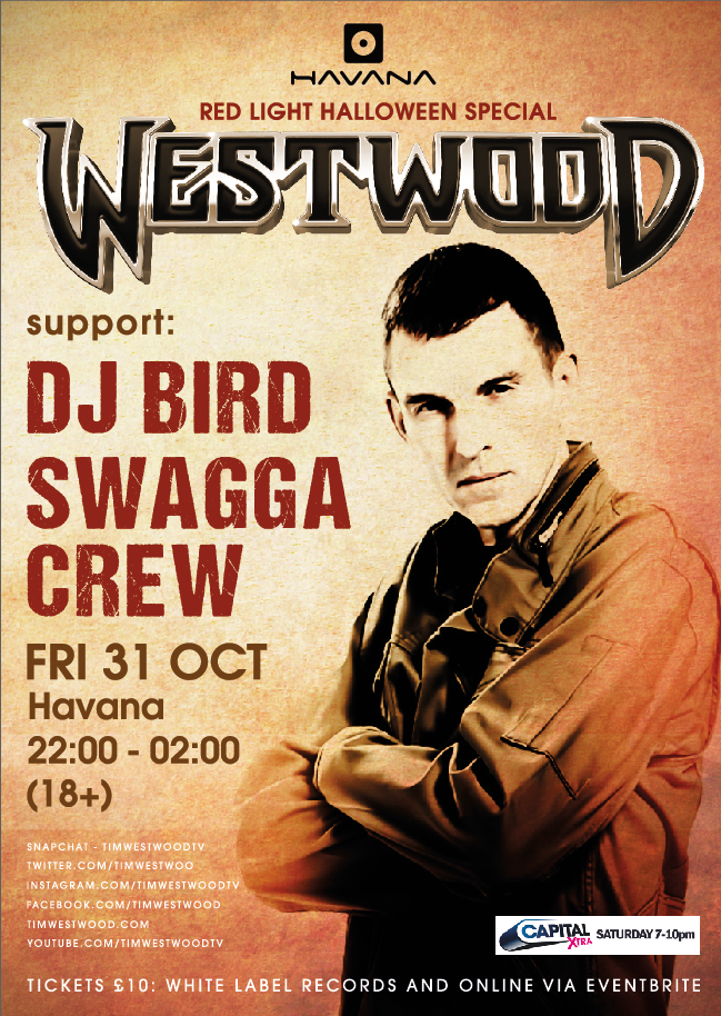 Westwood – Red Light Halloween Special – Friday 31st October